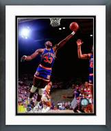 New York Knicks Patrick Ewing 1985 Action Framed Photo