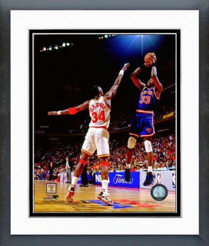New York Knicks Patrick Ewing 1994 Action Framed Photo