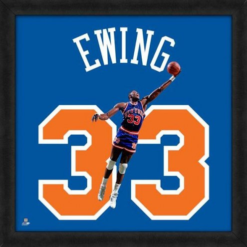 New York Knicks Patrick Ewing Uniframe Framed Jersey Photo