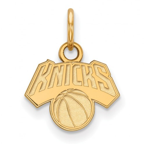 New York Knicks Sterling Silver Gold Plated Extra Small Pendant