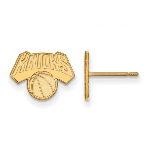 New York Knicks Sterling Silver Gold Plated Extra Small Post Earrings
