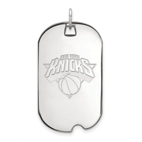 New York Knicks Sterling Silver Large Dog Tag