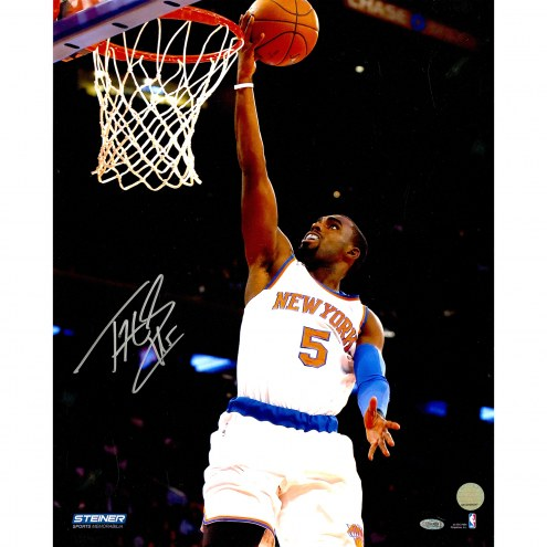 """New York Knicks Tim Hardaway Jr. One Handed Lay Up Signed 16"""" x 20"""" Photo"""