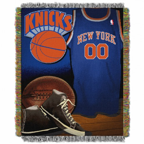 New York Knicks Vintage Throw Blanket