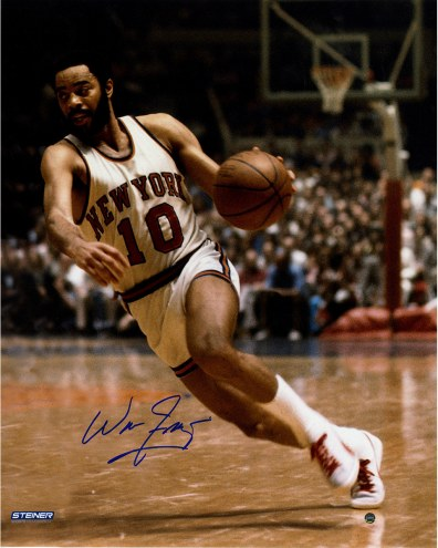 "New York Knicks Walt Frazier Dribble Signed 16"" x 20"" Photo"