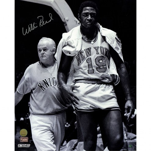 "New York Knicks Willis Reed Walk Off Court Signed 16"" x 20"" Photo"
