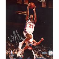"""New York Knicks Wilson Chandler Home Lay Up Signed 16"""" x 20"""" Photo"""