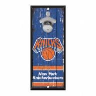 New York Knicks Wood Bottle Opener