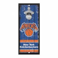 New York Knicks Wood Bottle Opener