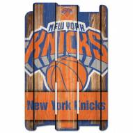 New York Knicks Wood Fence Sign