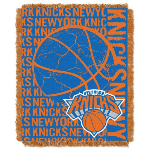 New York Knicks Woven Jacquard Throw Blanket