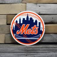 """New York Mets 12"""" Steel Logo Sign"""
