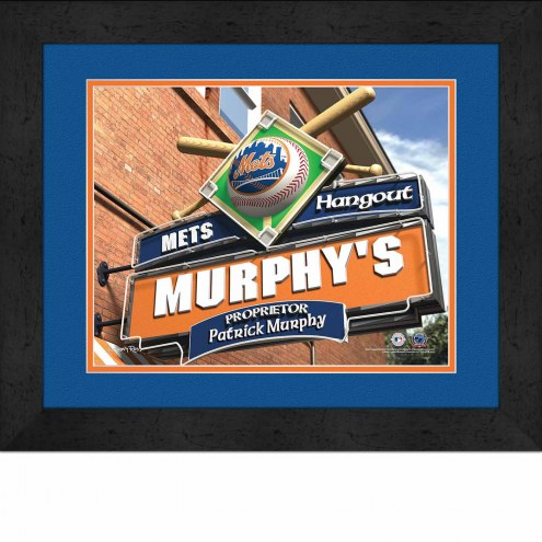 New York Mets 13 x 16 Personalized Framed Sports Pub Print