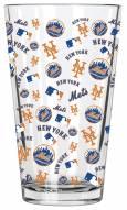 New York Mets 16 oz. All Over Print Pint Glass