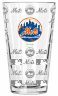 New York Mets 16 oz. Sandblasted Pint Glass