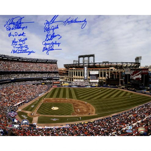 "New York Mets 1986 11 Signature Shea Stadium w/ ""86 WS Champs"" Signed 16"" x 20"" Photo"