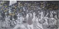 New York Mets 1986 Team Signed Amazin 86 Hobrecht Fine Art 20 x 40 Giclee Unstretched Canvas