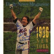 New York Mets 1986 Team Signed Daily News Magazine Year In Pictures
