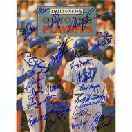 New York Mets 1986 Team Signed Daily News On to the Playoffs Magazine