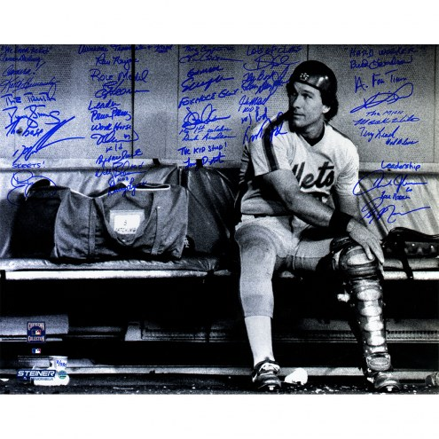 """New York Mets 1986 Team Signed & Inscribed Gary Carter Tribute (27 Signatures) Signed 16"""" x 20"""" Photo"""