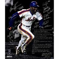 New York Mets 1986 Team Signed Mookie Wilson WS Game 6 20 x 24 Story Photo