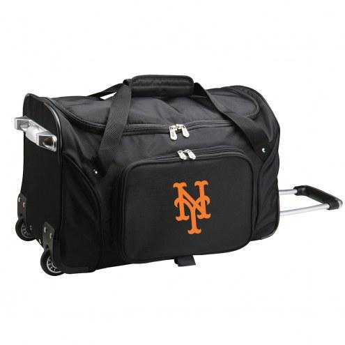 "New York Mets 22"" Rolling Duffle Bag"