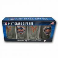 New York Mets 4 Pack Pint Glass Set