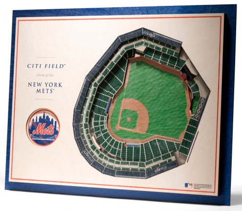 New York Mets 5-Layer StadiumViews 3D Wall Art