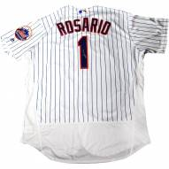 New York Mets Amed Rosario Signed Flexbase Authentic Home White/Royal Jersey