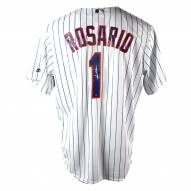 New York Mets Amed Rosario Signed Flexbase Replica Home White/Royal Jersey