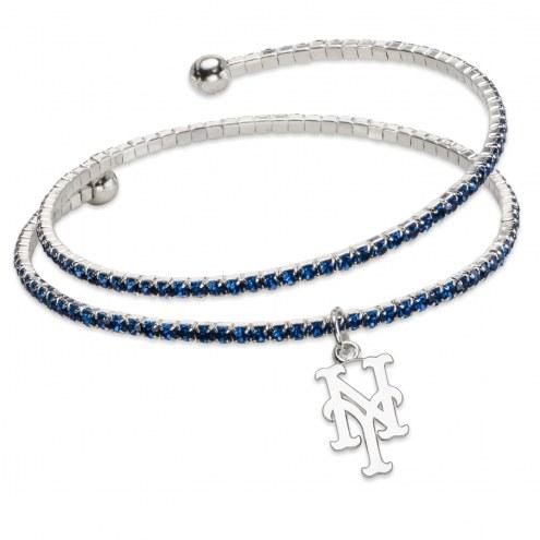 New York Mets Amped Logo Crystal Bracelet