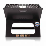 New York Mets Black Portable Charcoal X-Grill