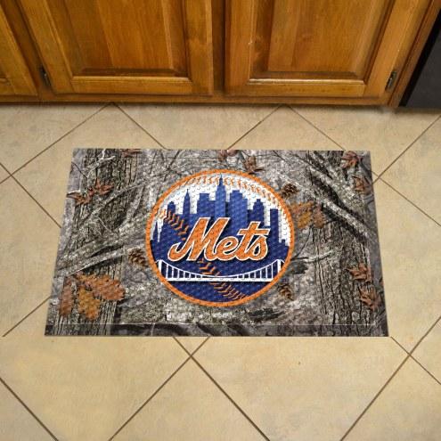 New York Mets Camo Scraper Door Mat