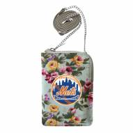 New York Mets Canvas Floral Smart Purse