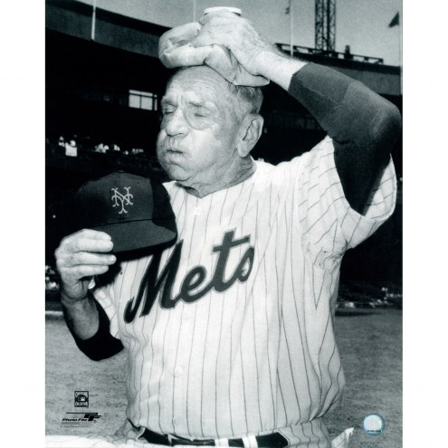 "New York Mets Casey Stengel Ice Bag on Head Signed 16"" x 20"" Photo"