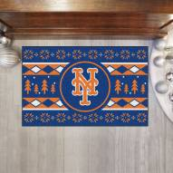 New York Mets Christmas Sweater Starter Rug