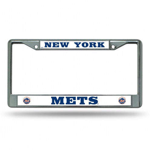 New York Mets Chrome License Plate Frame