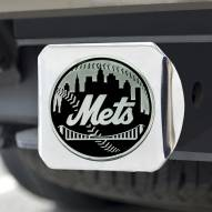 New York Mets Chrome Metal Hitch Cover