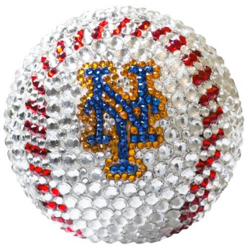 New York Mets Swarovski Crystal Baseball