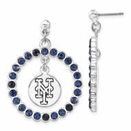 New York Mets Crystal Logo Wreath Earrings