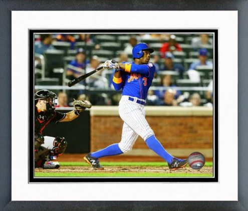 New York Mets Curtis Granderson Action Framed Photo