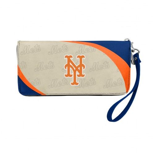 New York Mets Curve Zip Organizer Wallet