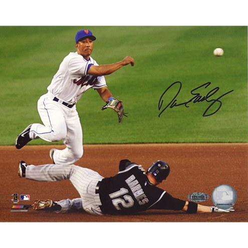 """New York Mets Damion Easley Turning Double Play Signed 16"""" x 20"""" Photo"""
