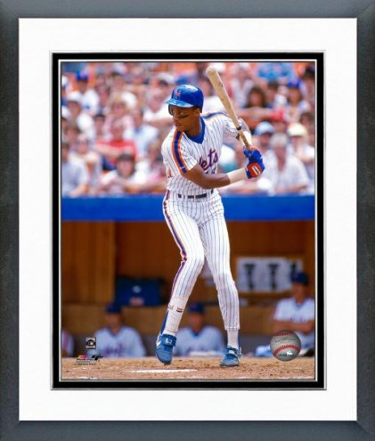 New York Mets Darryl Strawberry Batting Action Framed Photo