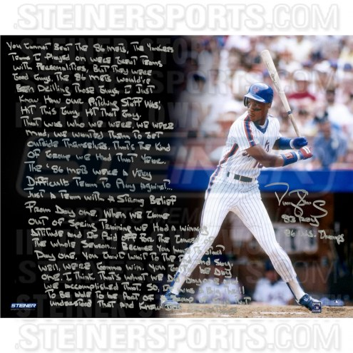 "New York Mets Darryl Strawberry Uniform Story Signed 16"" x 20"" Photo"