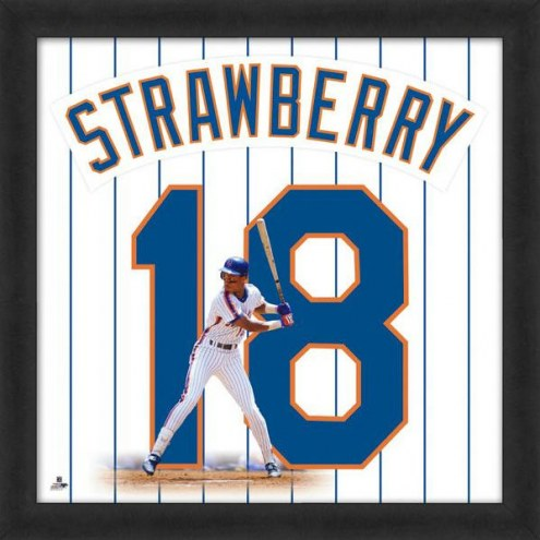 New York Mets Darryl Strawberry Uniframe Framed Jersey Photo