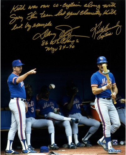 "New York Mets Davey Johnson/Keith Hernandez Story w/ ""Captain"" Signed 16"" x 20"" Photo"