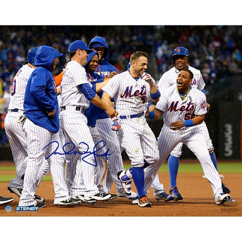 "New York Mets David Wright Celebration After Walk Off vs. Brewers Signed 16"" x 20"" Photo"