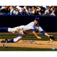 New York Mets David Wright Signed Diving For Baseball 16 x 20 Photo