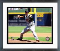 New York Mets Dillon Gee Pitching Action Framed Photo